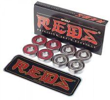 Bones REDS Skateboard Skate Genuine BEARINGS set of 8 NEW