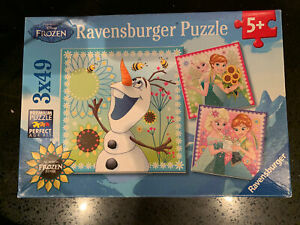 "Ravensburger Disney Frozen Fever 3x49 Piece Jigsaw Puzzles Age 5+ 8""x8"" 21x21cm"