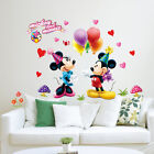 Mickey Minnie Mouse Wall Sticker Kids Nursery Room Decor Vinyl Decal Home Mural
