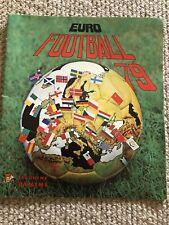 Panini Euro football 79 sticker album 15-20% complete excellent condition
