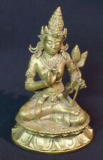 A joli statuette sculpture bronze doré TARA divinité indoue Bouddha 730g15cm