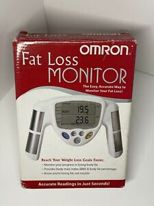 OMRON HBF-306C FAT LOSS MONITOR COMPLETE BOX TESTED WORKING GYM TRANING