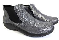 BERKEMANN Carlina Komfort Leder Schuhe Stiefeletten Boots grau NEU 129,95