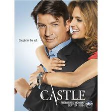 """Nathan Fillion with Stana Katic """"Caught in the Act"""" Castle TV 8 x 10 inch photo"""