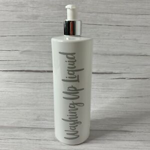Mrs Hinch Inspired Bottle White Gloss Washing Up- Any Text- 500ml- FREE POSTAGE