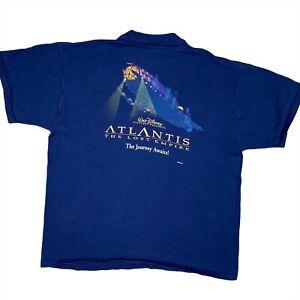 Vintage Disney Atlantis The Lost Empire Promo Movie T-Shirt Rare Men's Size XL