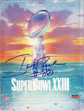 Jerry Rice signed autographed San Francisco 49ers Super Bowl 23 program w/ PROOF