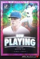 Gavin Lux Rookie Card 2020 Donruss Baseball Pink Parallel Fireworks Now Playing