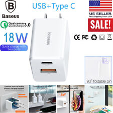 Baseus PPS3.0 Fast Charge 18W Type C USB Wall Charger Adapter For iPhone Samsung