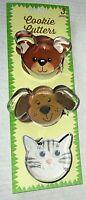 ANIMAL COOKIE CUTTER  SET  Set of 3  DOG/CAT/BEAR