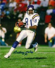Anthony Carter Signed 8x10 Photo-Minnesota Vikings Action NFL Football-Michigan