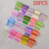 DIY 20Pcs Starry Sky Foils Nail Art Transfer Sticker Paper Glitter Tips Manicure