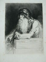 Gravur Porträt Der Herzog Job, Victor Hugo Die Burggrafen Leopold Flameng