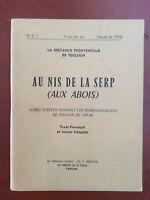 La Restanco * Au Nis de la Serp - Aux Abois * Provençal / Français * Toulon 1958