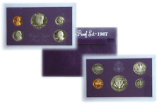 1987 S 5 Coin Proof Set Original Government Packaging W/COA Smokiness/Toned