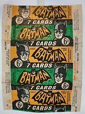 More details for 1966 a&bc batman 6d 7 cards black bat vintage bubble gum flawed wax wrapper