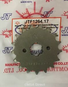JT 17 Tooth Steel FRONT Sprocket Fits HONDA CBF125 (2009 to 2014)