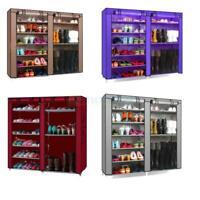 New Double Shoe Boot Closet Rack Shelf Storage Organizer Cabinet - 9 Layer US
