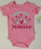 Disney Baby Girls Daddy's Little Princess Creeper Bodysuit Father's Day 12-24m