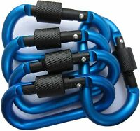 5pcs/set Aluminum Carabiner D-Ring Clip Keychain Screw Hook Climbing Locking HOT