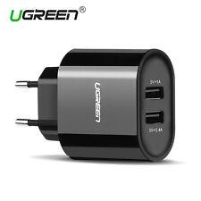 UGREEN 2 Puertos USB 5V/2.4A y 5V/1A USB Adaptador de Corriente Enchufe Europeo