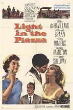 LIGHT IN THE PIAZZA Movie POSTER 27x40 Olivia de Havilland Rossano Brazzi Yvette