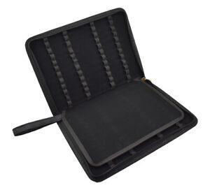 Black Leather Pen Case for 48 Pen, Pen Pouch for Fountain Pen Rollerball Pen