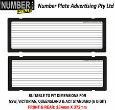Number Plate Covers -  6 Digit - Clip On - Lines  (NSW, VIC,QLD,ACT,SA, WA)