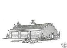 36 x 36 - 3 to 6 Car Garage Building Plans Blueprints