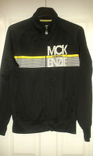 Mens Long Sleeved Jacket - McKenzie - Black With Yellow & White - Size XL