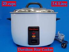 Davidson Commercial Rice Cooker with Keep Warm 20cups/3.6L CFXB 100-58 - NEW