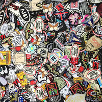 80PCS Men Style Random Wholesale mixed Lots Sew on Embroidered patches for male