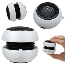 Mini USB Altavoz con Bateria Recargable para Telefono DVD MP3 iPod iPhone Blanco