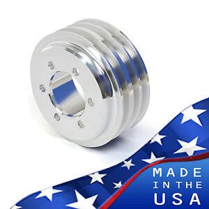 Buick Crankshaft Pulley - Big Block 400 430 455 Crank V-belt Billet Aluminum 3