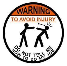 2x WARNING - AVOID INJURY .. USA Hard Hat Sticker Helmet Decal Fun osha welder