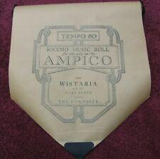 Ampico Player Piano Roll #57633 WISTARIA op 38 No. 1 The Composer~Stock gx