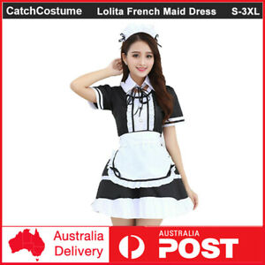 Sweet Lolita French Maid Dress Girls Womens Anime Cosplay Costume Party Outfit