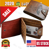 Men's Classic Leather Pockets Credit/ID Cards Holder Purse Wallet Coffee_Letyoug