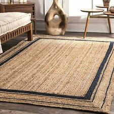 Jute Rug Braided Rug 100%Natural Jute Rug Reversible Handmade Runner Rustic look