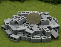 1/32 Scale Cinder Blocks, Set of 100, Great for Models and Dioramas
