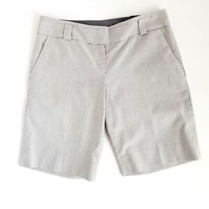 The Limited Drew Fit Bermuda Dress Shorts Womens 2 Striped Low Rise - Brand New