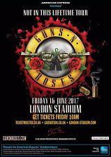"Guns N' Roses ""Not In This Lifetime Tour"" 2017 London Concert Poster - Hard Rock"