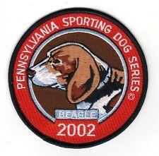 "2002 Pa Game Comm ? Pennsylvania Sporting Dog Series 4"" Patch Of Beagle Orginal"