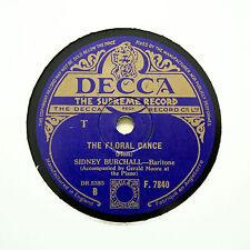 "SYDNEY BURCHALL ""Blind Ploughman / The Floral Dance"" DECCA F-7840 [78 RPM]"