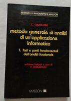 BOOK METODO GENERALE DI ANALISI DI UN'APPLICAZIONE INFORMATICA 1 8821405699