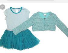 Girls Jona Michelle Green Sparkly Party Dress with Bolero Jacket AGE 4