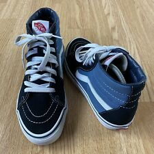 Womens Vans High Top Shoes Trainers Size UK 5 Black/Blue/White - Free P&P