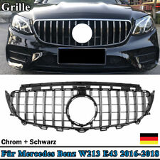 Grill Sport Kühlergrill für Mercedes W213 C238 PANAMERICANA GT AMG OPTIK Chrom