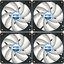 4 x Arctic Cooling F12 120mm Case Fans 1350 RPM (AFACO-12000-GBA01) AC Artic