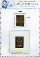 UMM AL QIWAIN  JOHN F KENNEDY MEMORIAL IMPERF GOLD FOIL STAMP & DELUXE S/S  MINT